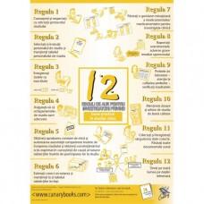 12 Golden GCP Rules for Investigators - Poster - Romanian